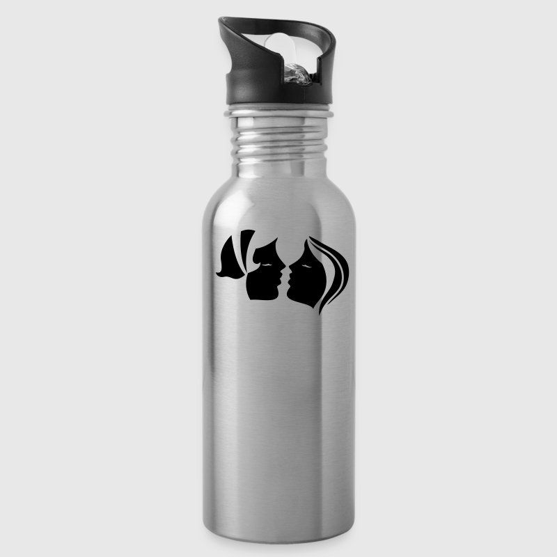 two women kissing! seriously sexy lesbian! Accessories - Water Bottle