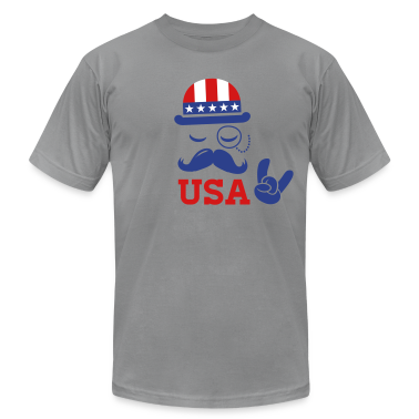Cool USA American Sir with flag rocks for sports olympics champion and election vote America T-Shirts