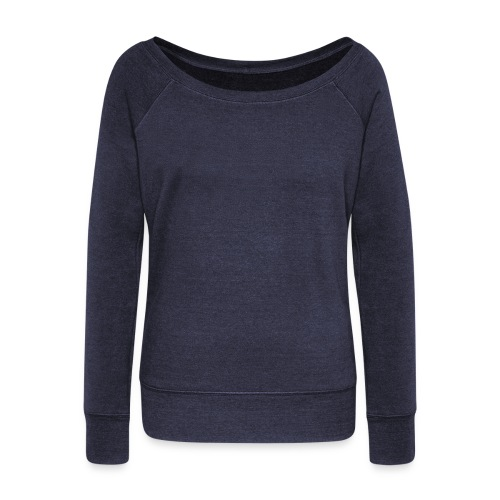 Navy Blue Sweatshirt - Women's Wideneck Sweatshirt