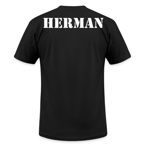 Logo tee with customable name on back. - Men's Fine Jersey T-Shirt