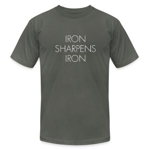 Iron Sharpens Iron - Men's T-Shirt by American Apparel