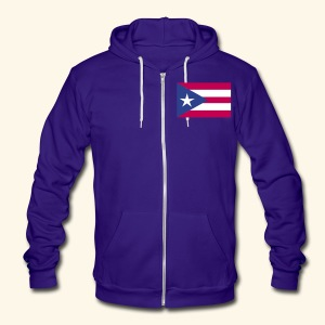 Porto Rico sweatshirt - Unisex Fleece Zip Hoodie by American Apparel