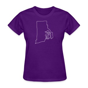 Rhode Island Outline - Women's T-Shirt