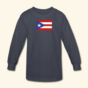 Porto Rico Tee shirt - Kids' Long Sleeve T-Shirt
