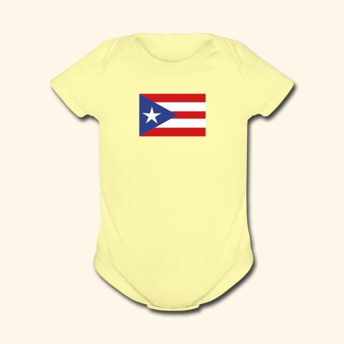 Baby Short Sleeve One Piece Porto Rico - Organic Short Sleeve Baby Bodysuit