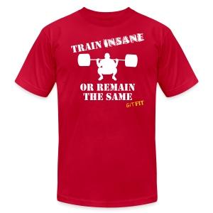 TRAIN INSANE - Men's Fine Jersey T-Shirt