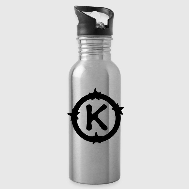 Letter K Amp Circle Stars Pattern Bottle Spreadshirt