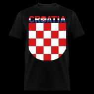 T-Shirts ~ Men's T-Shirt ~ Sahovnica Shirt Croatia Hrvatska 3 color