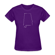T-Shirts ~ Women's T-Shirt ~ Alabama Outline