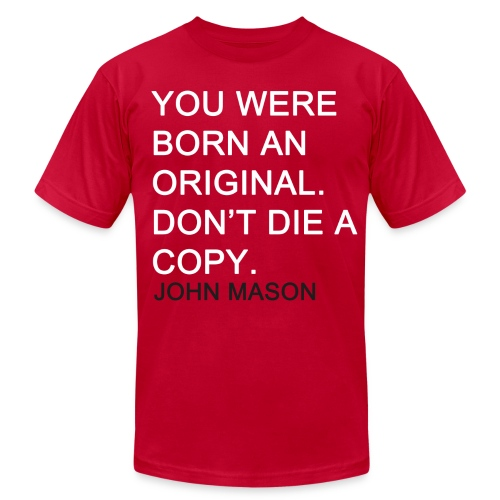 BORN AN ORIGINAL - Men's Fine Jersey T-Shirt