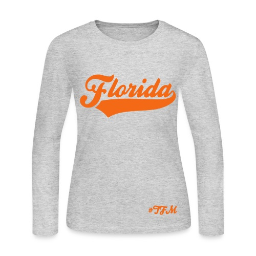 #TFM State [Florida] Collection (Girls) - Women's Long Sleeve Jersey T-Shirt