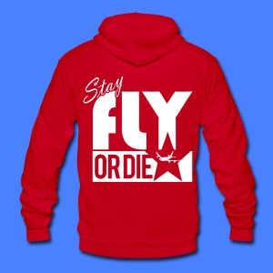 Stay Fly Or Die Zip Hoodies/Jackets - stayflyclothing.com - Unisex Fleece Zip Hoodie by American Apparel