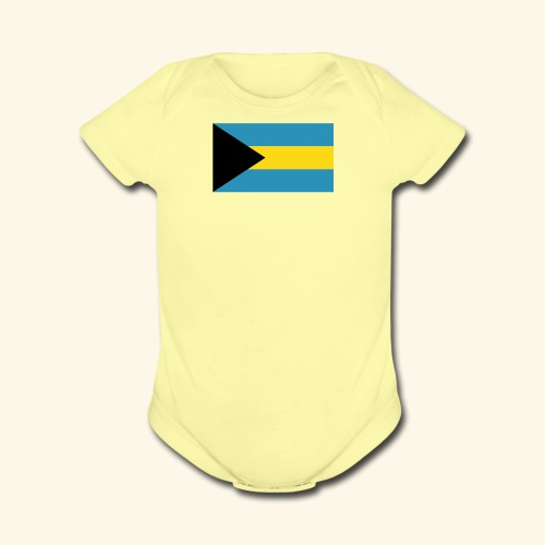 Bahamas baby fashion - Organic Short Sleeve Baby Bodysuit