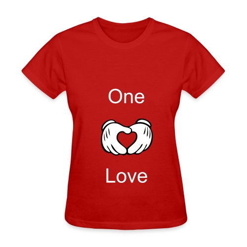 Women. One Love(Mickey Mouse Hands) Couple Shirts - Women's T-Shirt