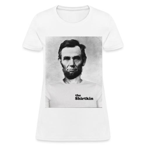 Abraham Lincoln Shirtkin  - Women's - Women's T-Shirt