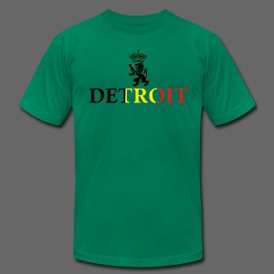 Detroit Belgian Flag - Men's T-Shirt by American Apparel