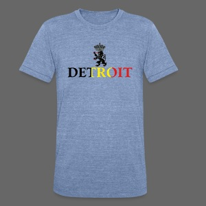 Detroit Belgian Flag - Unisex Tri-Blend T-Shirt by American Apparel