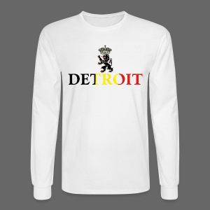 Detroit Belgian Flag - Men's Long Sleeve T-Shirt