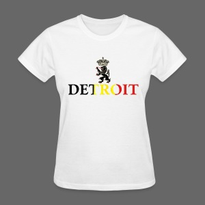 Detroit Belgian Flag - Women's T-Shirt
