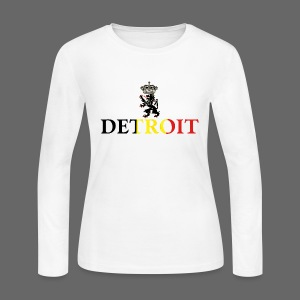 Detroit Belgian Flag - Women's Long Sleeve Jersey T-Shirt