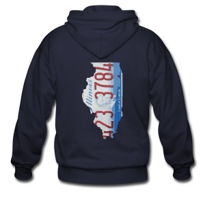 Illinois Plate State - Men's Zip Hoodie