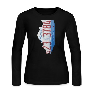 Illinois Plate State - Women's Long Sleeve Jersey T-Shirt