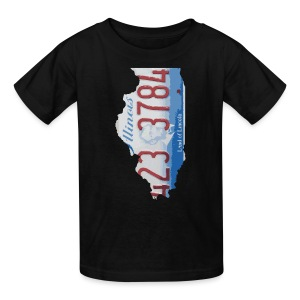 Illinois Plate State - Kids' T-Shirt