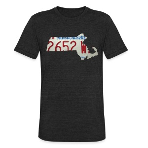 Massachusetts Plate State - Unisex Tri-Blend T-Shirt by American Apparel