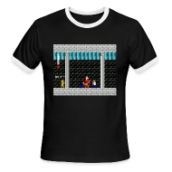 T-Shirts ~ Men's Ringer T-Shirt ~ SFB Men't Ringer T-Shirt with Link from Zelda White Text