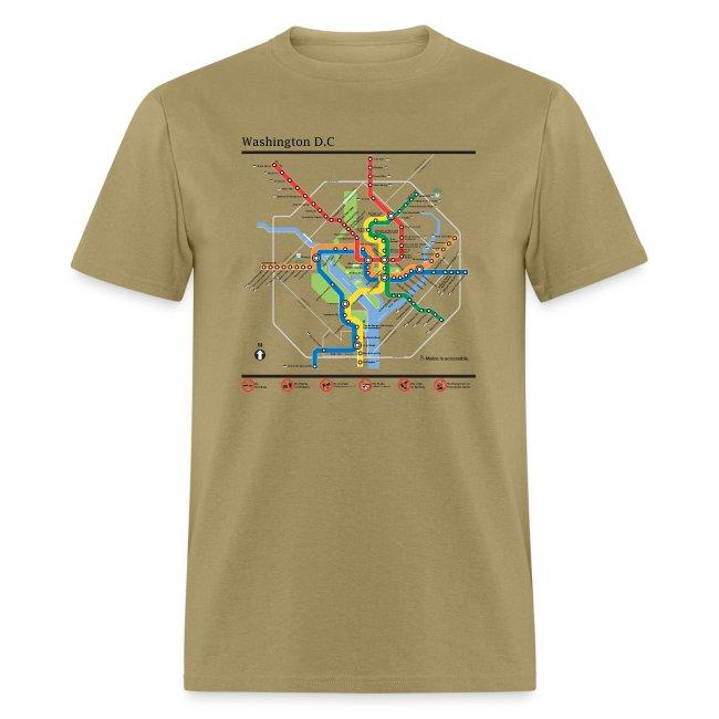 D Subway Map.Art2tee4shirt Washington Dc Subway Map Lines T Shirt Mens T Shirt