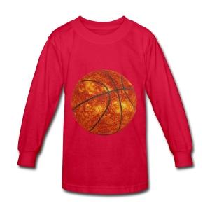 Basketball Sun - Kids' Long Sleeve T-Shirt