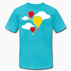 hot air balloons flying with clouds  T-Shirts