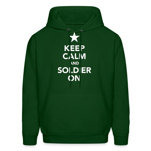 Keep calm and soldier on - Men's Hoodie