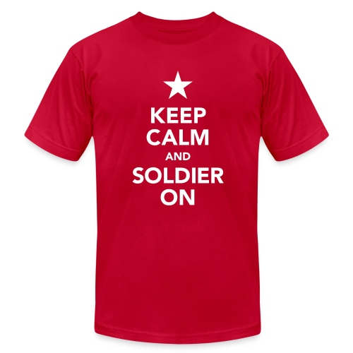 Keep calm and soldier on - Men's Fine Jersey T-Shirt