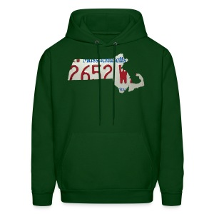 Massachusetts Plate State - Men's Hoodie