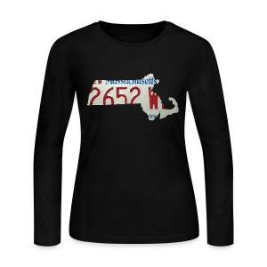 Massachusetts Plate State - Women's Long Sleeve Jersey T-Shirt