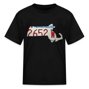Massachusetts Plate State - Kids' T-Shirt