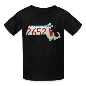 Massachusetts Plate State - Kids' T-Shirt