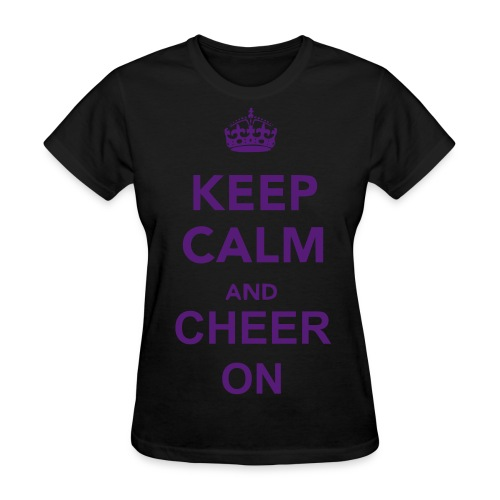 Keep Calm and Cheer on - Women's T-Shirt