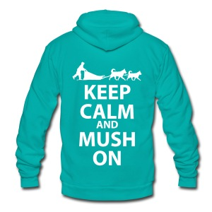 Keep Calm and MUSH On Unisex Zipper Fleece  - Unisex Fleece Zip Hoodie by American Apparel