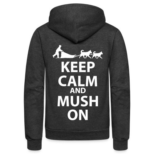 Keep Calm and MUSH On Unisex Zipper Fleece  - Unisex Fleece Zip Hoodie