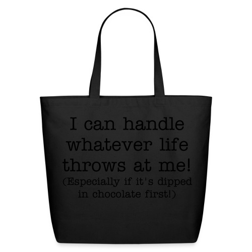 Dipped in Chocolate tote (black text) - Eco-Friendly Cotton Tote