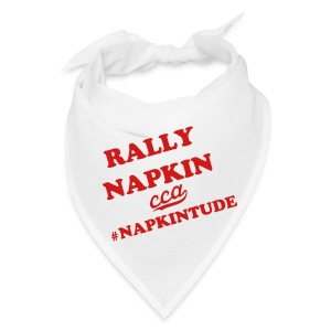 White Rally Napkin - Bandana