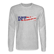 Long Sleeve Shirts ~ Men's Long Sleeve T-Shirt ~ A Detroit Flag