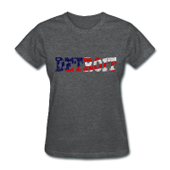 Women's T-Shirts ~ Women's T-Shirt ~ A Detroit Flag