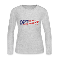 Long Sleeve Shirts ~ Women's Long Sleeve Jersey T-Shirt ~ A Detroit Flag