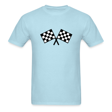flags - car race T-Shirts