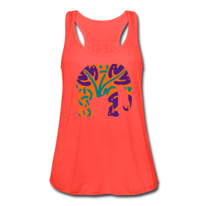 wild elephant - Women's Flowy Tank Top by Bella