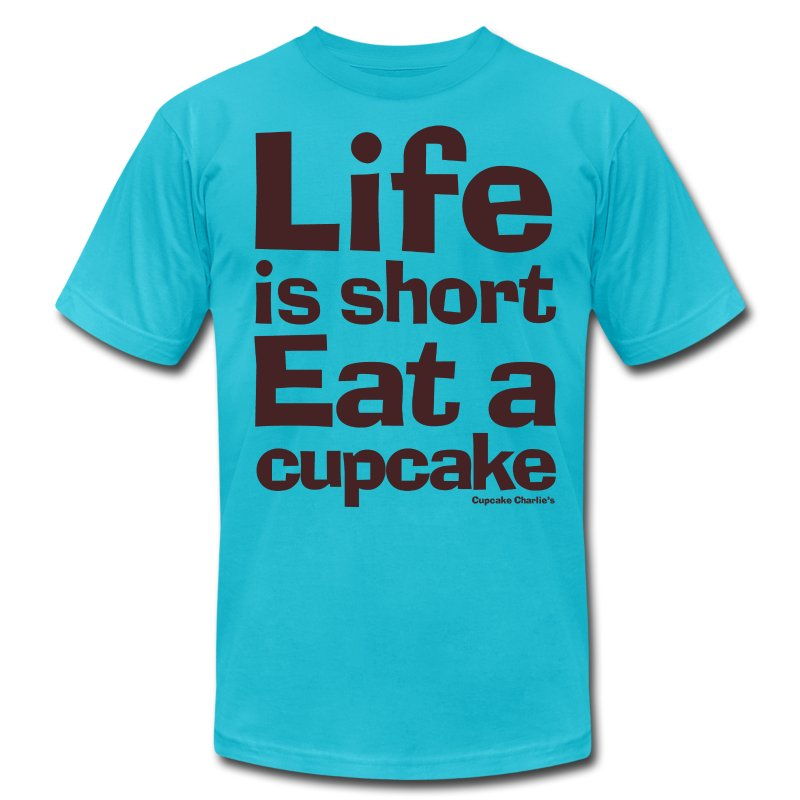 Life is Short...Eat a Cupcake Mens Tee - Brown - Men's T-Shirt by American Apparel