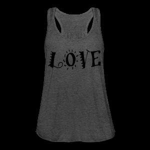 Love - Women's Flowy Tank Top by Bella